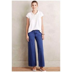 Anthropologie Pilcro Chino Wide-Legs